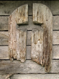 Weathered Wooden Cross