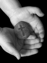 cross in hands